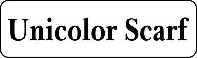 Unicolor scarf